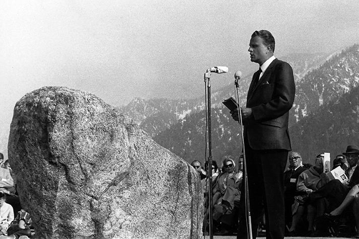 Billy Graham preached at Forest Home in the early days of his ministry.