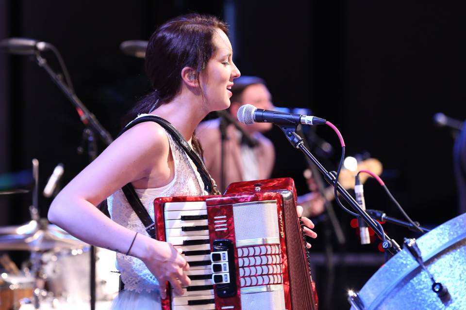 Ali on accordion
