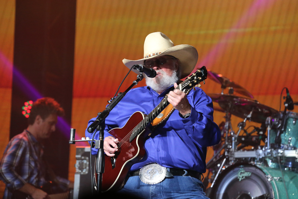 Charlie Daniels on guitar