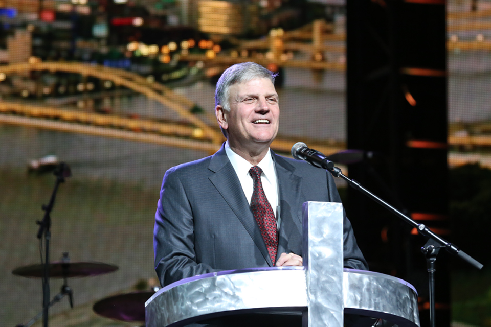 Franklin Graham onstage