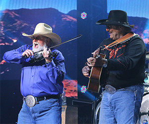 Charlie Daniels and Dennis Agajanian, to of the fastest in the business, treat the crowd on Sunday.