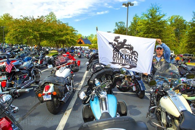 Bikers Donate Over 3,300 Shoeboxes