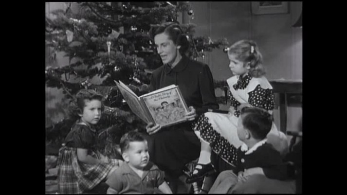 Ruth Graham Reads Christmas Story, 1953