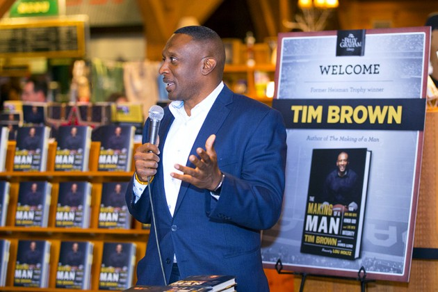 Tim Brown's Message at the Library: There's More to Life than Super Bowl