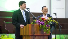 Will Graham Shares the Gospel in Ruth Bell Graham's Hometown of Huai'an, China