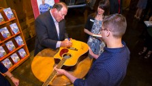 Mike Huckabee Meets Billy Graham Library Visitors at Book Signing