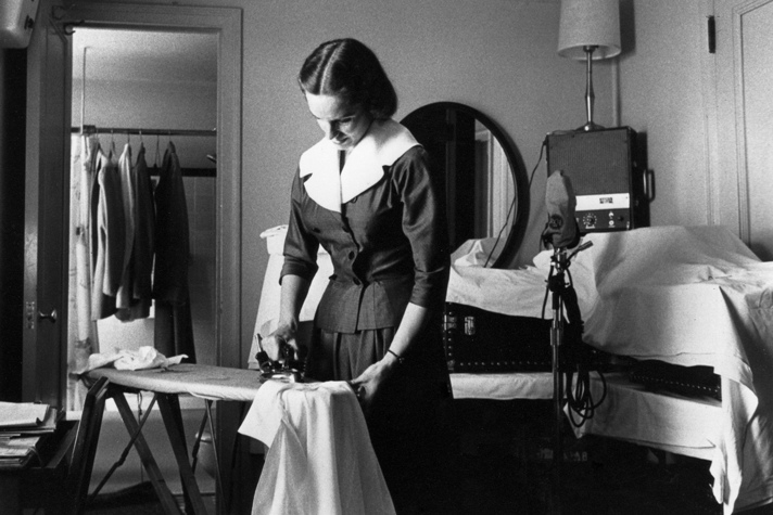 Ruth Graham ironing