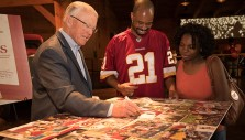 Redskins, NASCAR Fans Meet Joe Gibbs at Billy Graham Library