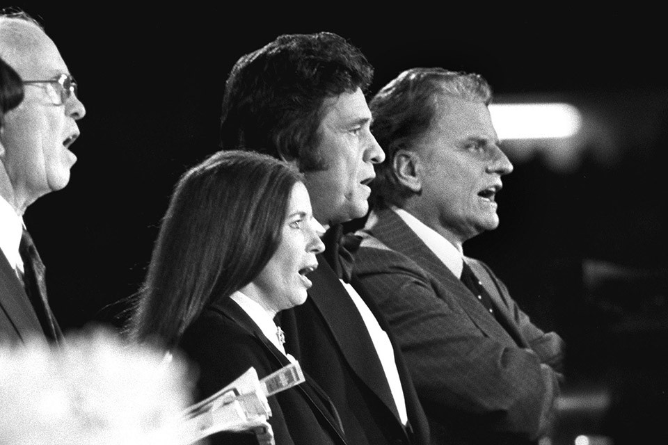Johnny Cash and Billy Graham Through the Years