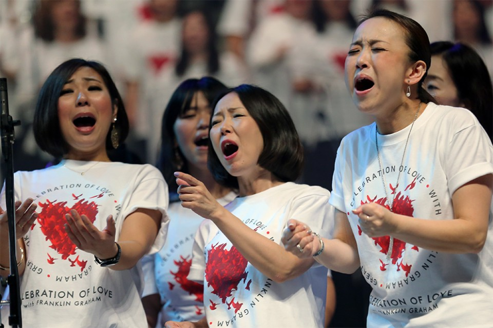 A 1,500-member choir at Sunday's Greater Tokyo Celebration of Love made it clear—gospel music is quite popular in Japan.