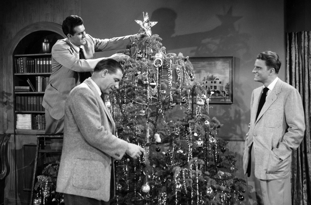 Billy Graham and Christmas tree