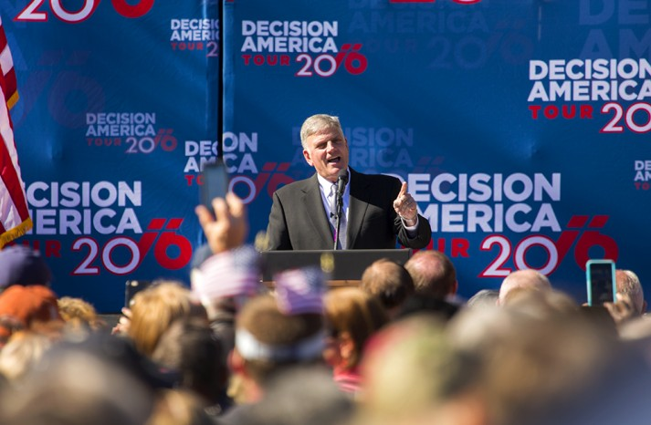 Thousands have joined Franklin Graham on the Decision America Tour to pray for our country to turn back to God.