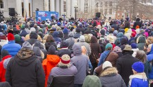 United, Chilly New Hampshirans Stand for One Nation Under God