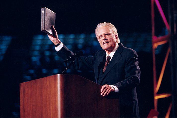 Image result for photos of billy Graham preaching