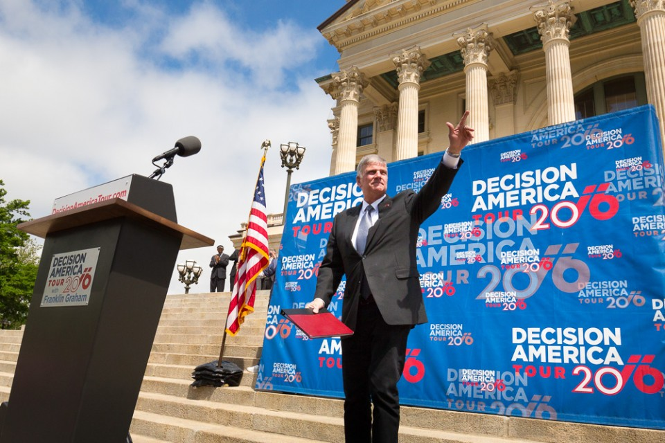 Franklin Graham on Capitol steps