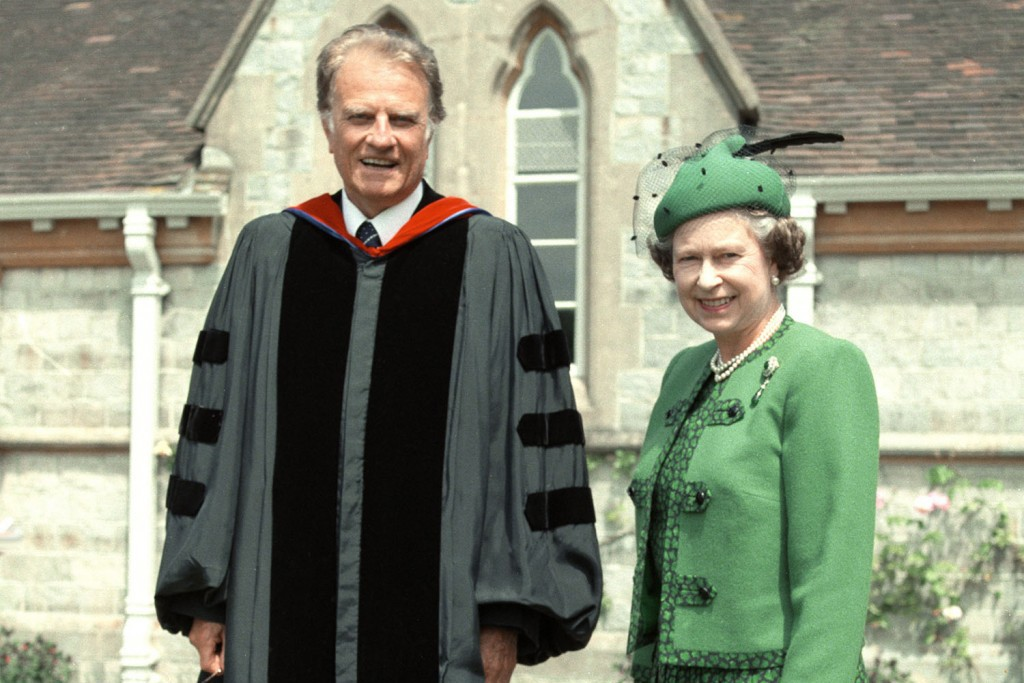 Billy Graham and Queen Elizabeth II