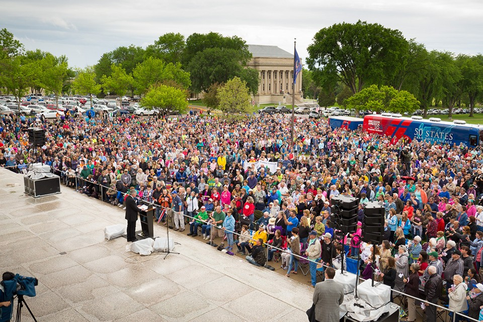 "The 26th stop of the Decision America Tour with Franklin Graham took place on May 25 in Bismarck, North Dakota. ""Jesus Christ is not dead; He's alive and He's right here with us in Bismarck,"" Franklin Graham told the crowd of around 3,100. Find out when he will come to your state."
