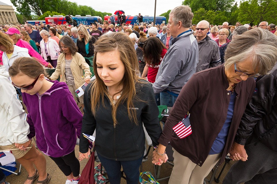 Among those who showed up to pray, many were young. Will you also commit to pray for America?