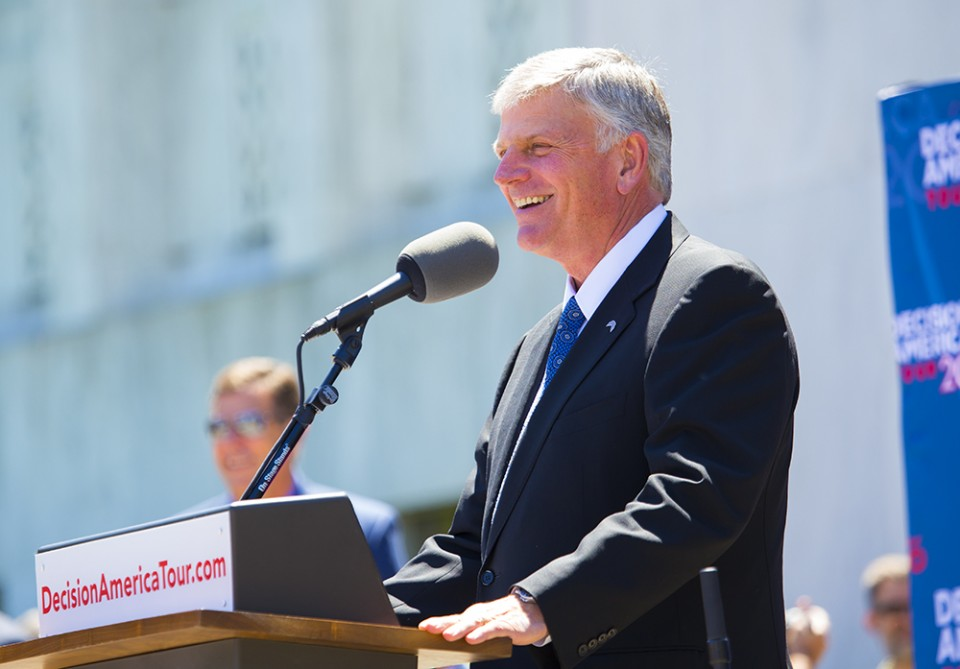 Tuesday marked the 30th stop of of the Decision America Tour with Franklin Graham.