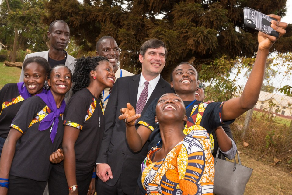 Will Graham's Peace and Joy Celebration concluded Sunday in Mukono, Uganda. Prior to the last event, Will took time out for a quick picture with members of the choir. See more photos from the three-day Celebration.