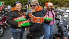 Bikers Pack Over 5,400 Shoeboxes for Kids
