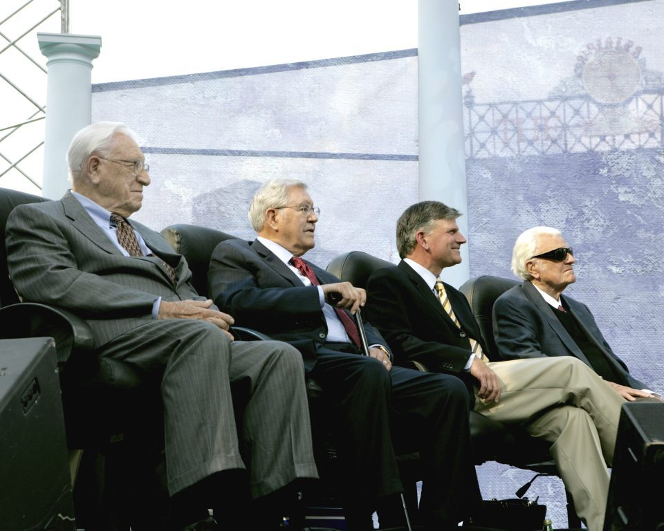 Bev Shea, Cliff Barrows, Franklin Graham, Billy Graham