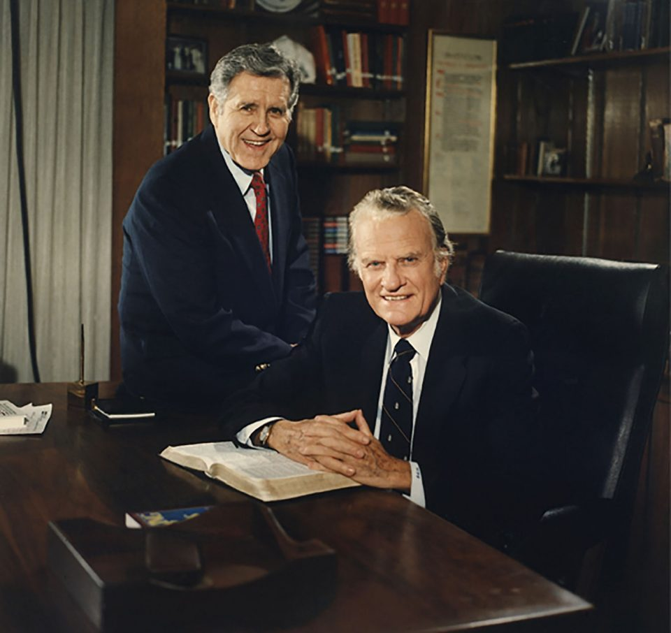 Cliff Barrows and Billy Graham