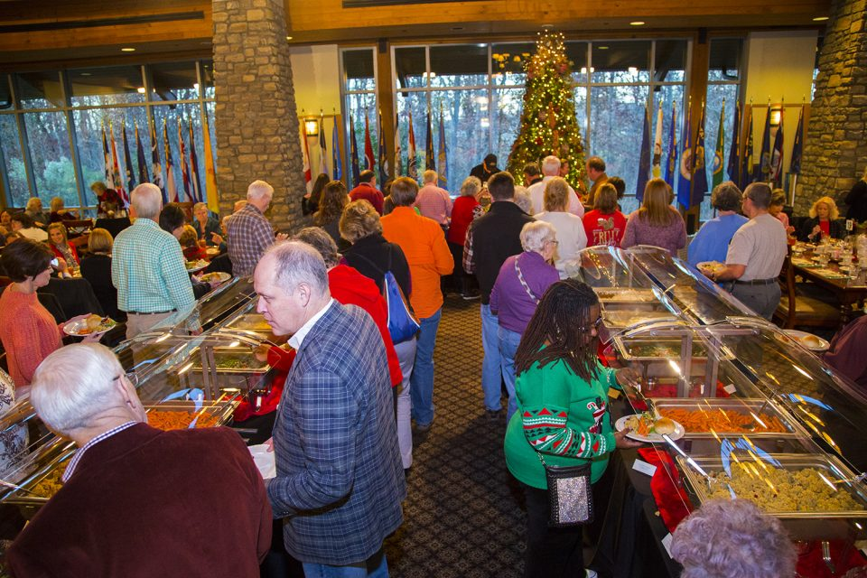 Reserve your spot for Christmas dinner on Thursdays, Fridays and Saturdays at the Billy Graham Evangelistic Association headquarters right behind the Library.