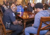 Rapid Response Chaplains Pray for Police Officers Serving on Inauguration Day