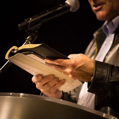 Franklin Graham holding Bible