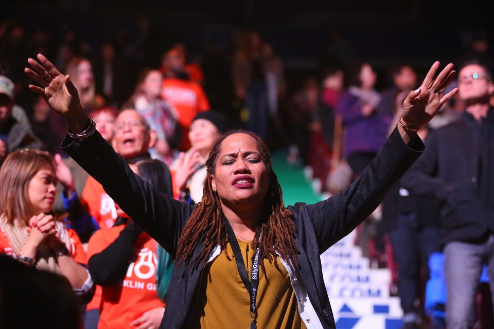 Woman in worship