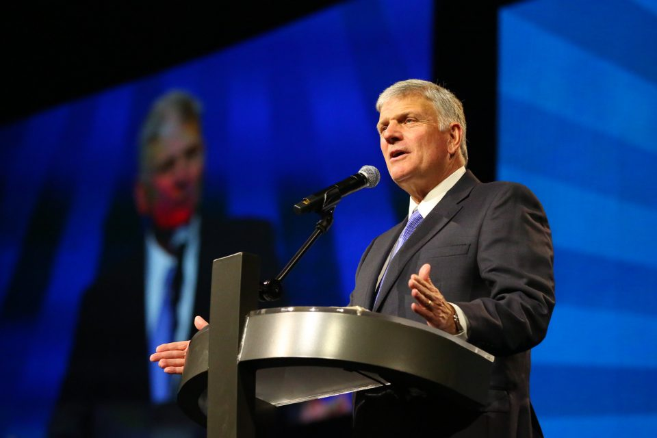 Franklin Graham preaching in Vancouver