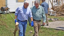 Vice President Mike Pence, Franklin Graham Visit Victims of Hurricane Harvey