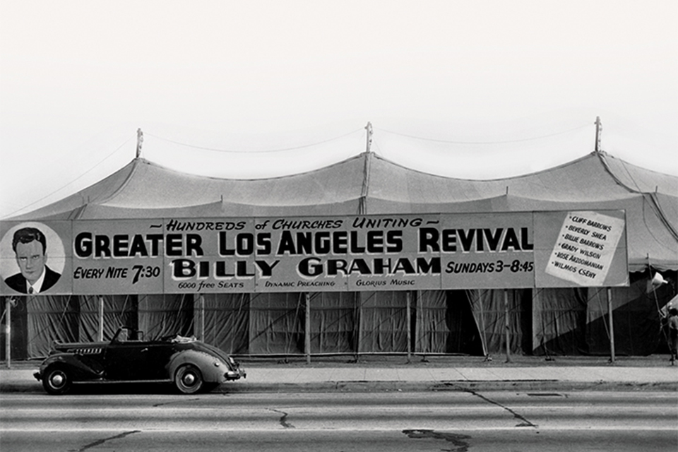 Tent for Billy Graham's 1949 Los Angeles Crusade