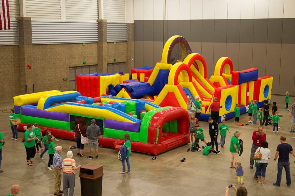 Bouncy houses at KidzFest