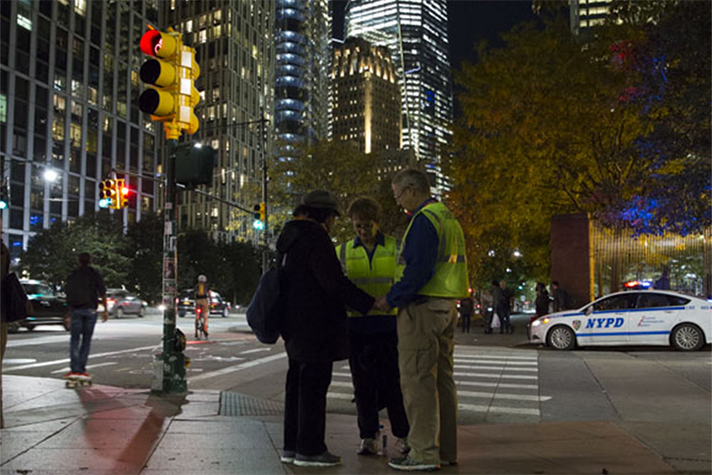 Chaplains praying in New York City