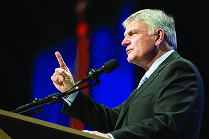 Franklin Graham speaking