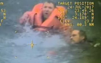 Man being saved from drowning
