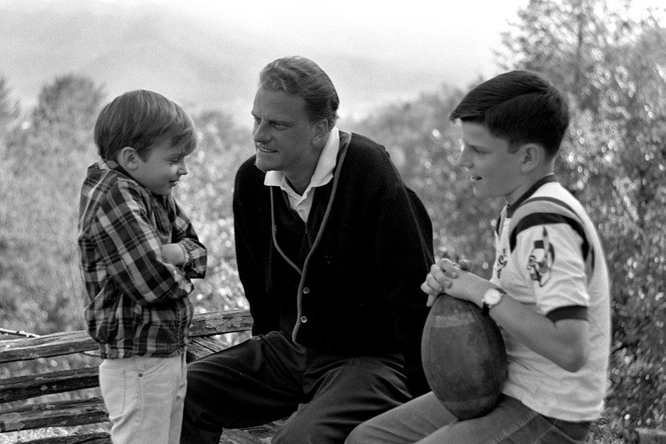 Billy Graham with Ned and Franklin