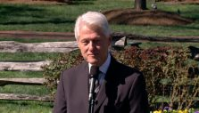 Former President Bill Clinton Pays Respect to Billy Graham