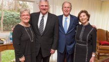 'God Bless Billy Graham': Former President George W. Bush and First Lady Laura Bush Visit Grahams