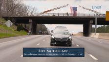 Billy Graham Motorcade Coverage