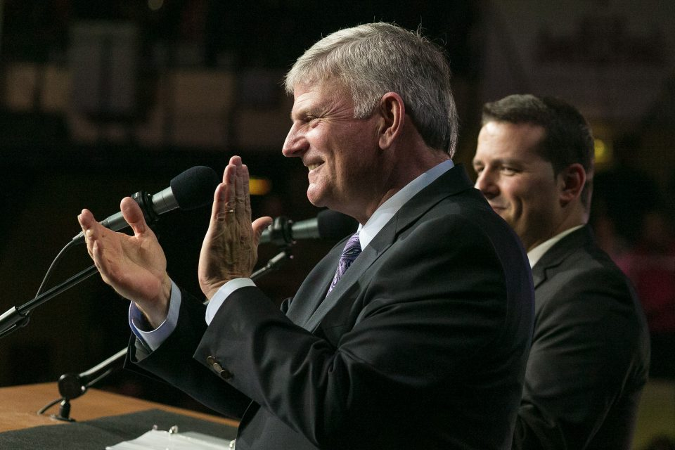 Franklin Graham clapping