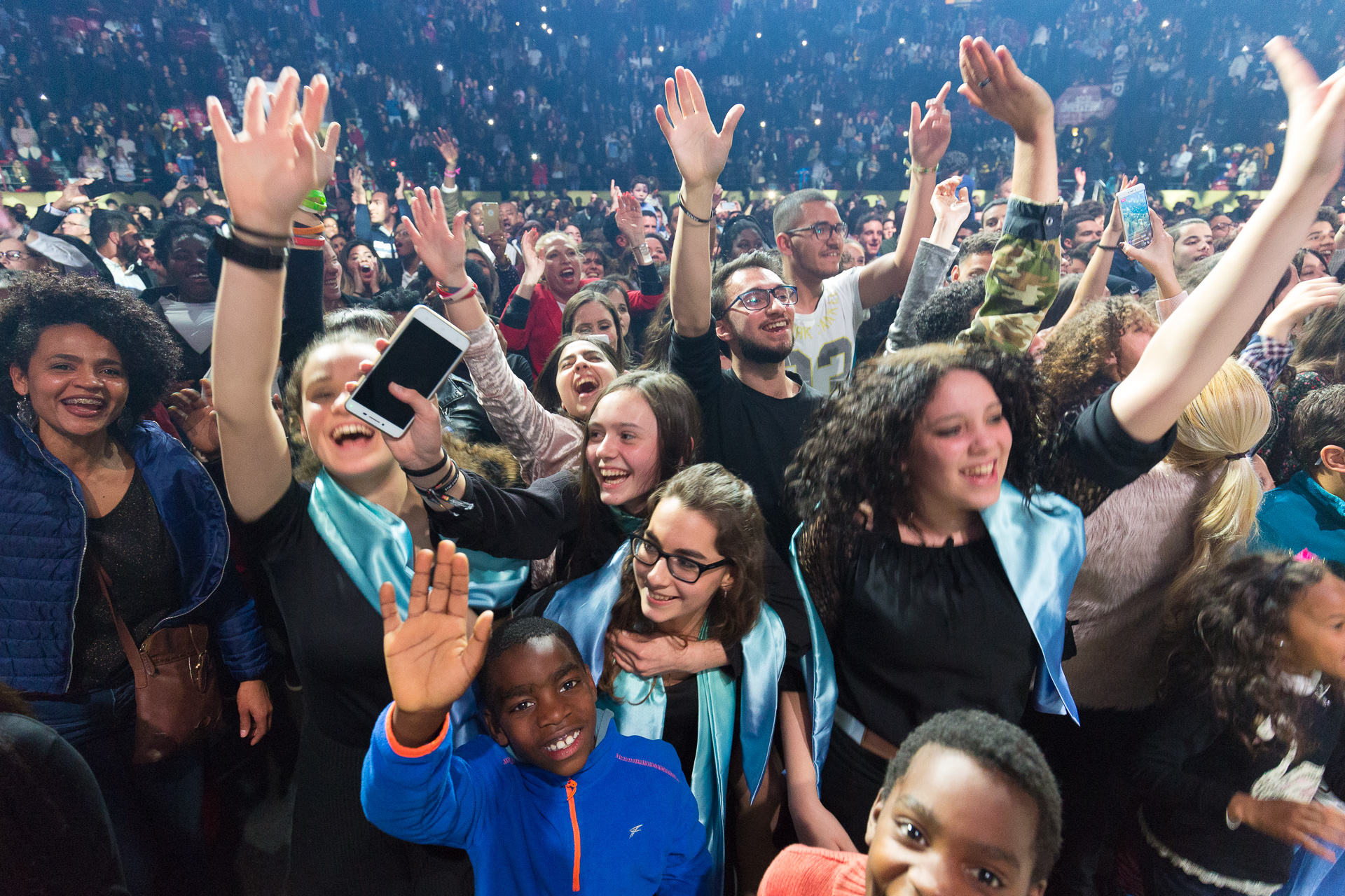 Excited teens at Festival of Hope