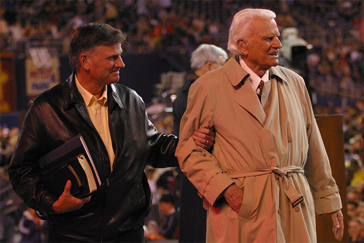 Franklin Graham and Billy Graham